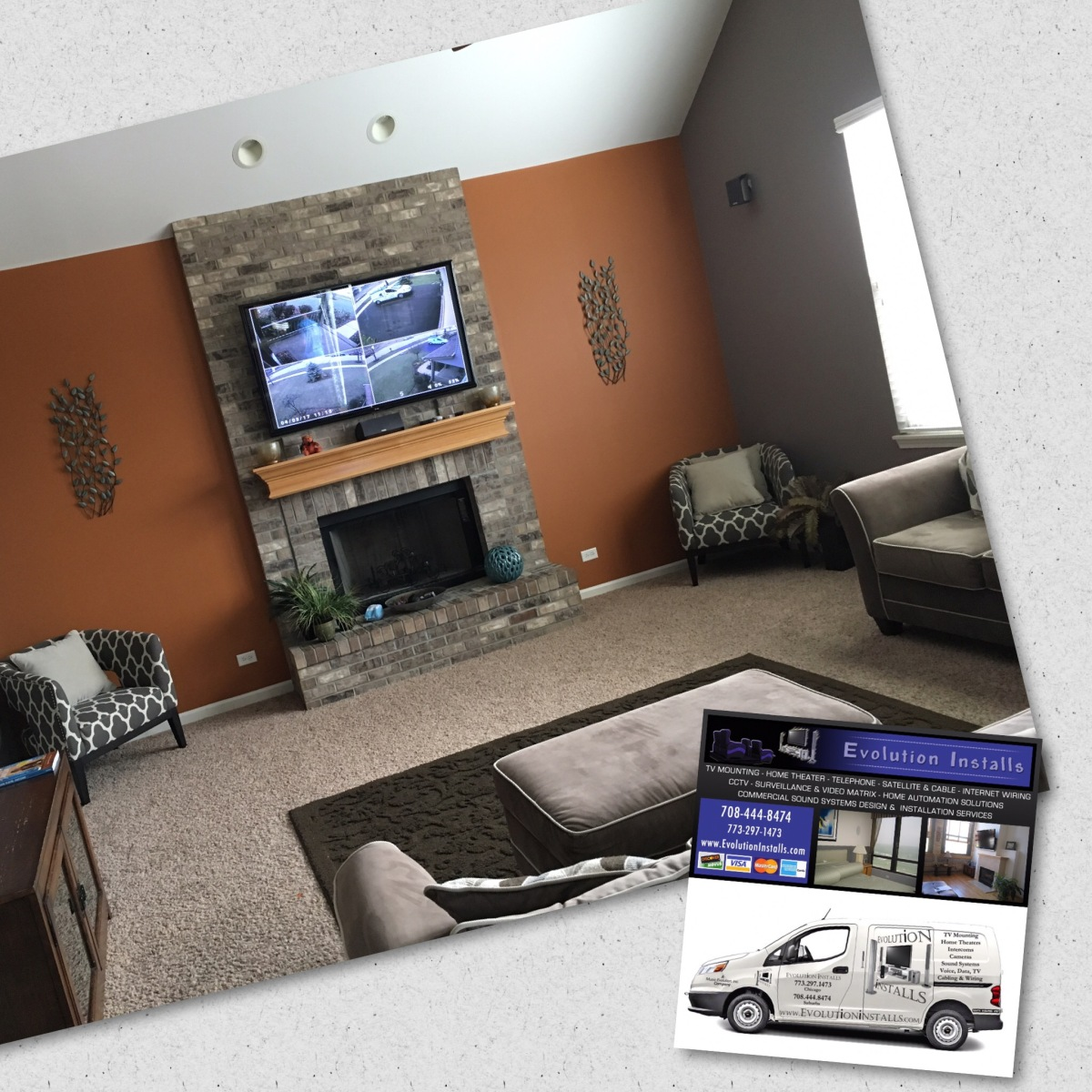 Tv Installation On Brick Over Fireplace Evolution Installs Of Home Wiring